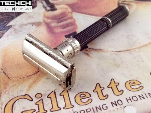 1969 O1 Gillette Black Handle Adjustable Vintage Safety Razor