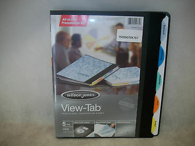 Wilson Jones View-tab 5-tab Presentation Binder 0.625 Capacity Black W55365