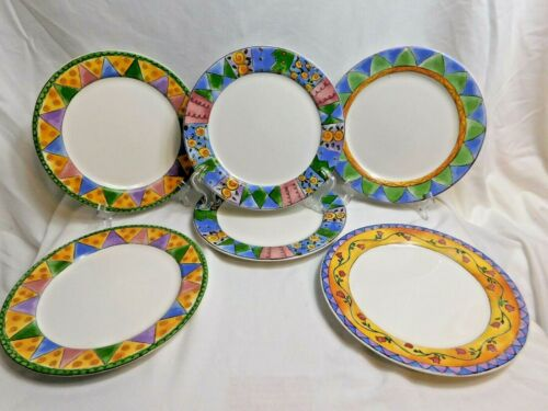A3 - Sango The Sweet Shoppe Dinner Plates Lot of 6