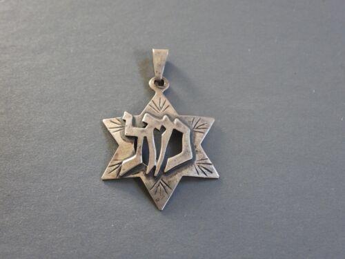 VINTAGE STERLING SILVER STAR OF DAVID Mazel LUCK symbol Jewish Hebrew Israel