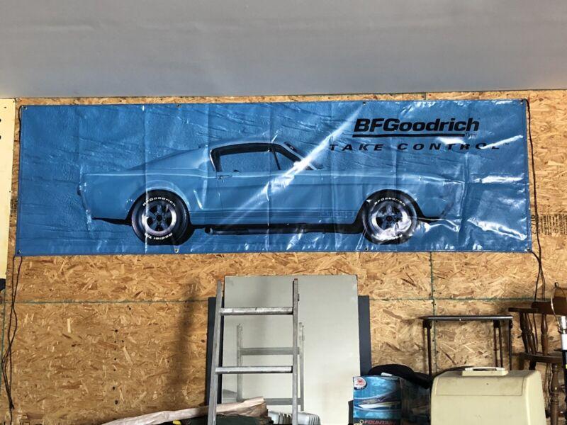 Orginal BF Goodrich Tire Ford Mustang Fastback Banner BFGoodrich