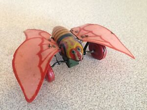 Rare Antique 1947 - 1952 Tin Toy Wind Up Butterfly