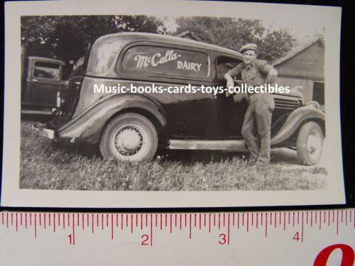 McCALLA DAIRY Ypsilanti Michigan original photo of MILK DELIVERY TRUCK - RARE!