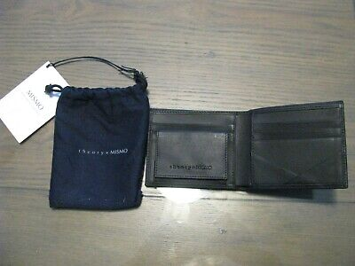 Mens Theory Mismo Black Leather Bifold Wallet in Dust Cover NWT ($150)