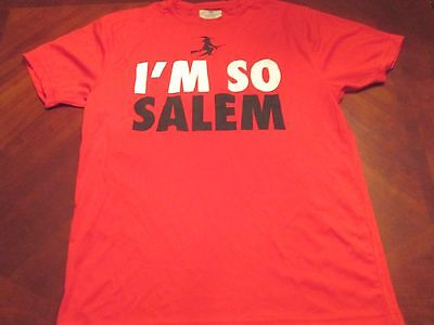 NEW I'M SO SALEM RED TECH FIT T-SHIRT SIZE L MA. HALLOWEEN WITCH CITY