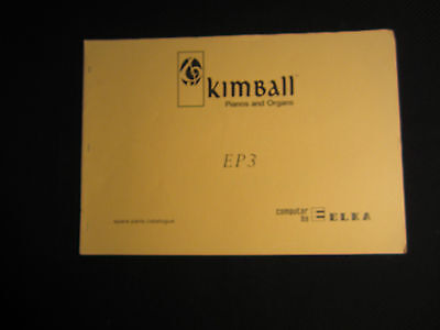 Kimball ELKA EP3 Electronic Organ Spare Parts Catalog Catalogue Manual E P 3