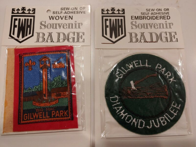 Gilwell Park Woodbadge Woven Patches Diamond Jubilee Of Scouting