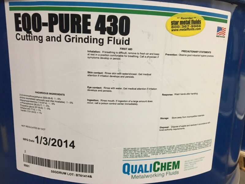 Qualichem EQO-PURE 430 Cutting And Grinding Fluid