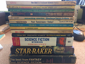 Vintage Science Fiction Magazine and Book Lot