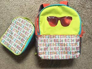 Skip Hop School Unisex Backpack with Lunch Bag Box