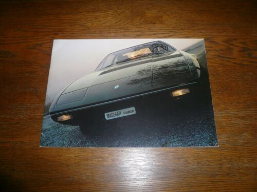 1975 Maserati Khamsin Sales Brochure- Vintage- French