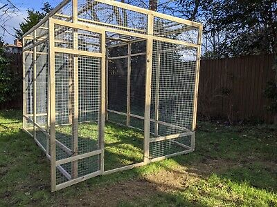 Poultry Panels 9ft x 6ft 19G Walk In Aviary Run Chicken Rabbit Hens