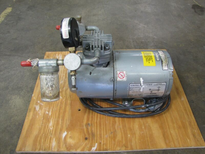 GE GENERAL ELECTRIC 5KH33GN293HX 1/6HP 1/6 HP VACUUM PUMP 115V 1PH 1 PH 20IN HG