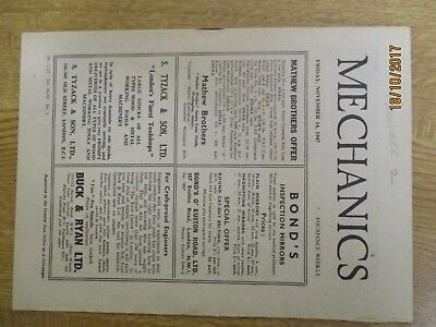 November 14th 1947, MECHANICS, Understanding Weather Forecasts, Nelson Johnson. for sale  Shipping to Nigeria
