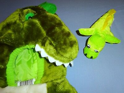 Plush Crocodile Alligator Green Costume childs 12-24 months 1-2-Dinosaur toy EUC