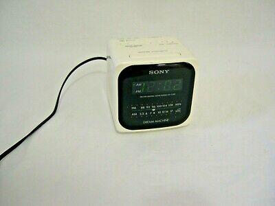 Sony Dream Machine Cube White   ICF-C120 FM/AM Radio Alarm Clock