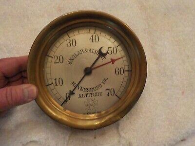 Us Gauge Co Altitude Steampunk Industrial Tool Englar Albert Waynesboro Pa.
