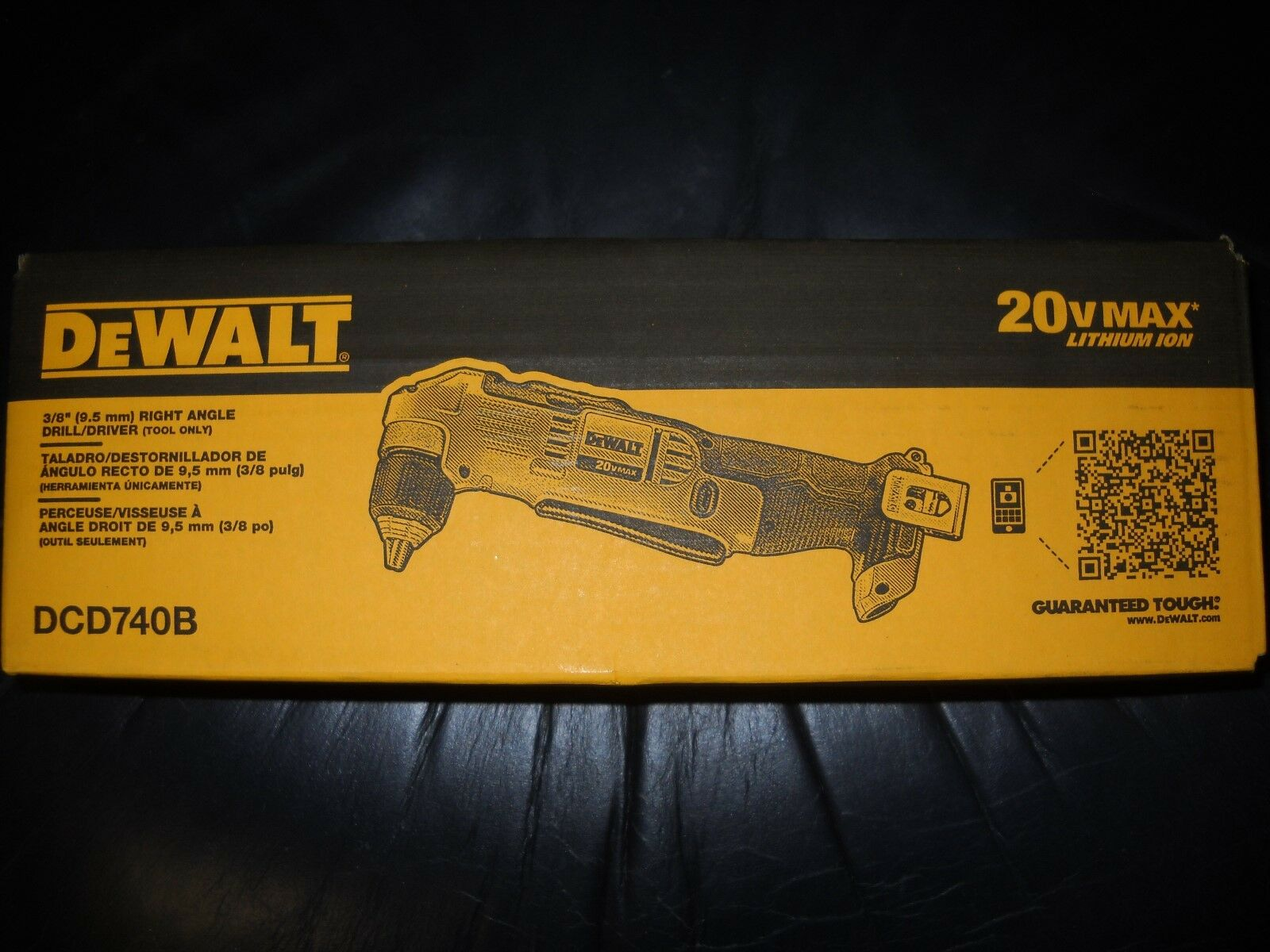 "DeWalt DCD740B 20V MAX Lithium Ion 3/8"" Right Angle Drill/Dr"