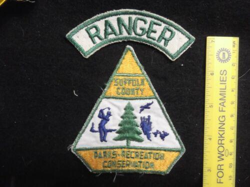 New York Suffolk Long Island Park Ranger 1960 issue rare 2 piece set HTF defunct