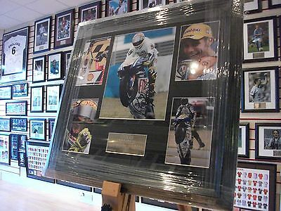 Valentino Rossi Signed Autograph Display MotoGP / Superbikes NEW