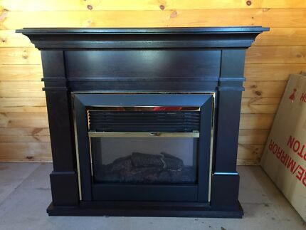 Timber mantle fireplace Beaumont Hills The Hills District Preview