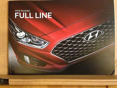 2018 HYUNDAI FULL-LINE Original Sales Brochure