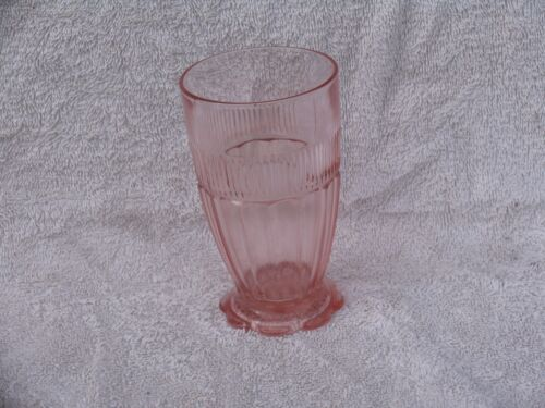 Coronation Pink Banded Tumbler Anchor Hocking