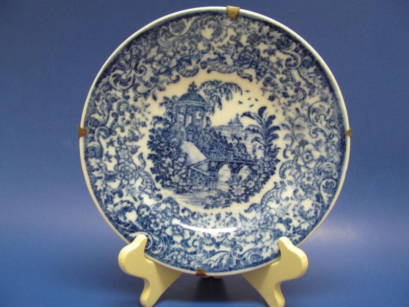 Antique Blue Transfer Ware Plate