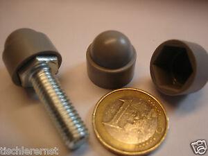 100-x-Tapa-para-tuercas-hexagonales-tuercas-M-8-SW-13-Plastico-Gris-Din