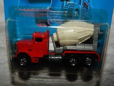 Hot Wheels Peterbilt Cement Truck - Workhorses Card - 1989 - New