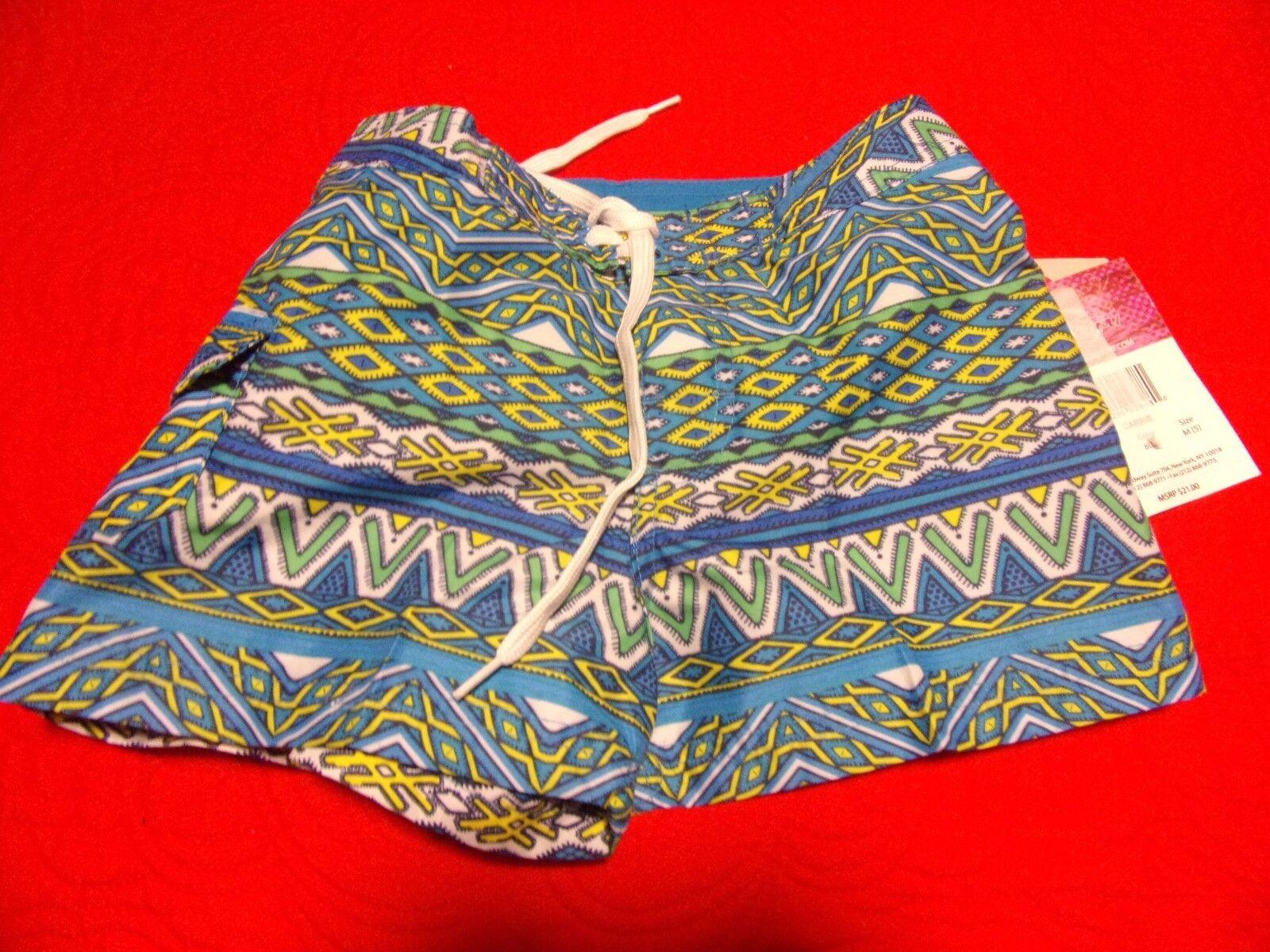 Kanu Surf Girl's Board Shorts - Blue - Medium  Swimsuit NWT