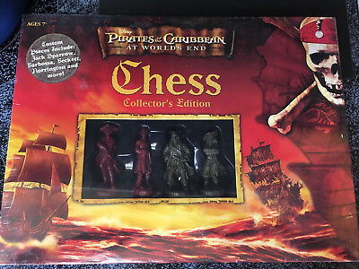 NEW PIRATES of the CARIBBEAN at Worlds End Chess Game 2007 COLLECTORS -
