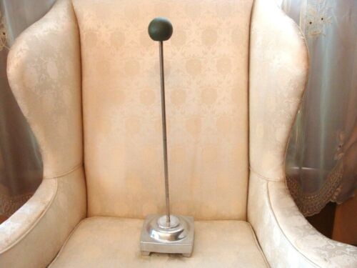 """Antique 21"""" Art Deco Cast Aluminum Hat Stand Millinery Counter Top Display"""