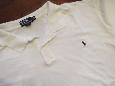 Polo Ralph Lauren Men's 5XB Big 5X 5XL Shirt White w/ Blue Pony