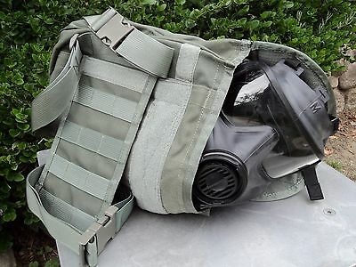 Avon Tactical Gas Mask Pouchcarrier - Military Issue Wdrop-leg Thigh-straps