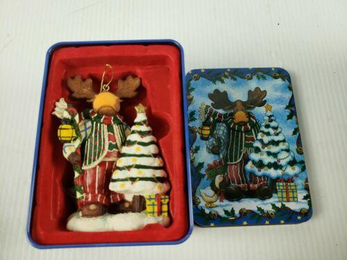 """Grandeur Noel """"Moose"""" Christmas Ornament in Tin"""
