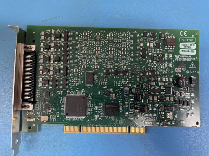 National Instruments PCI-6703 NI DAQ Card, Analog Output, 16 bit, 16 AO Channels