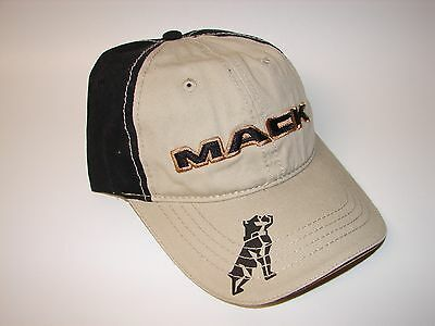 NEW Mack Truck Bulldog Logo Truckers Ball Baseball Cap Hat Adjustable Black/Tan ](Mack Truck Hats)