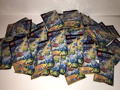 LEGO NEXO KNIGHTS Combo Nexo Powers Wave 1, LOT OF 24 sealed blind packs 70372