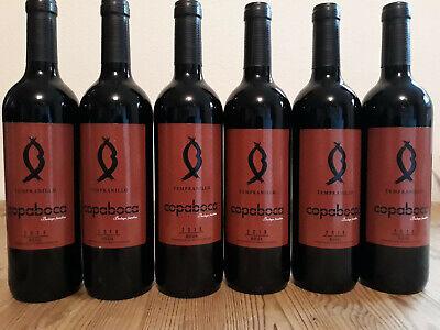 (8,00€ /1L) 6 Flaschen 2018er Rioja Copaboca Tempranillo Rotwein Spanien trocken