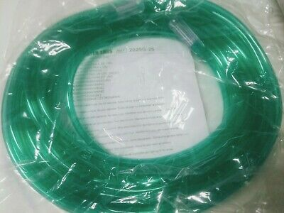 Salter Labs 2025g-25 Supply Tubing Adult 6mm X 25 7.6m Green W Connect
