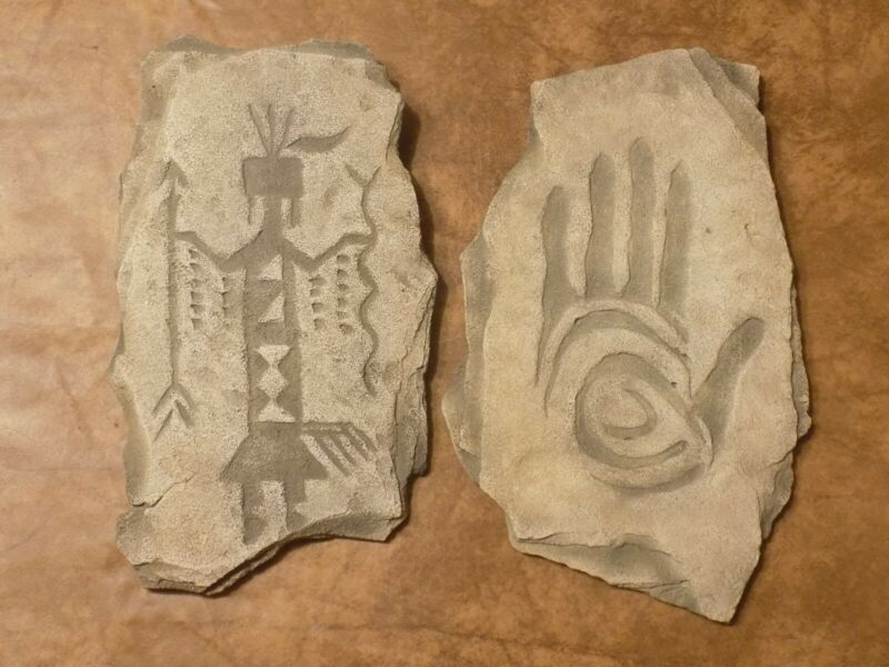 Native American Navajo Frags Petroglyph Ceramic Wall Picture Lot 15% Off Sale