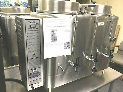 Coffee Brewer Curtis Ru-600 Commercial With 6 Dispensers 2 Flavors Electric