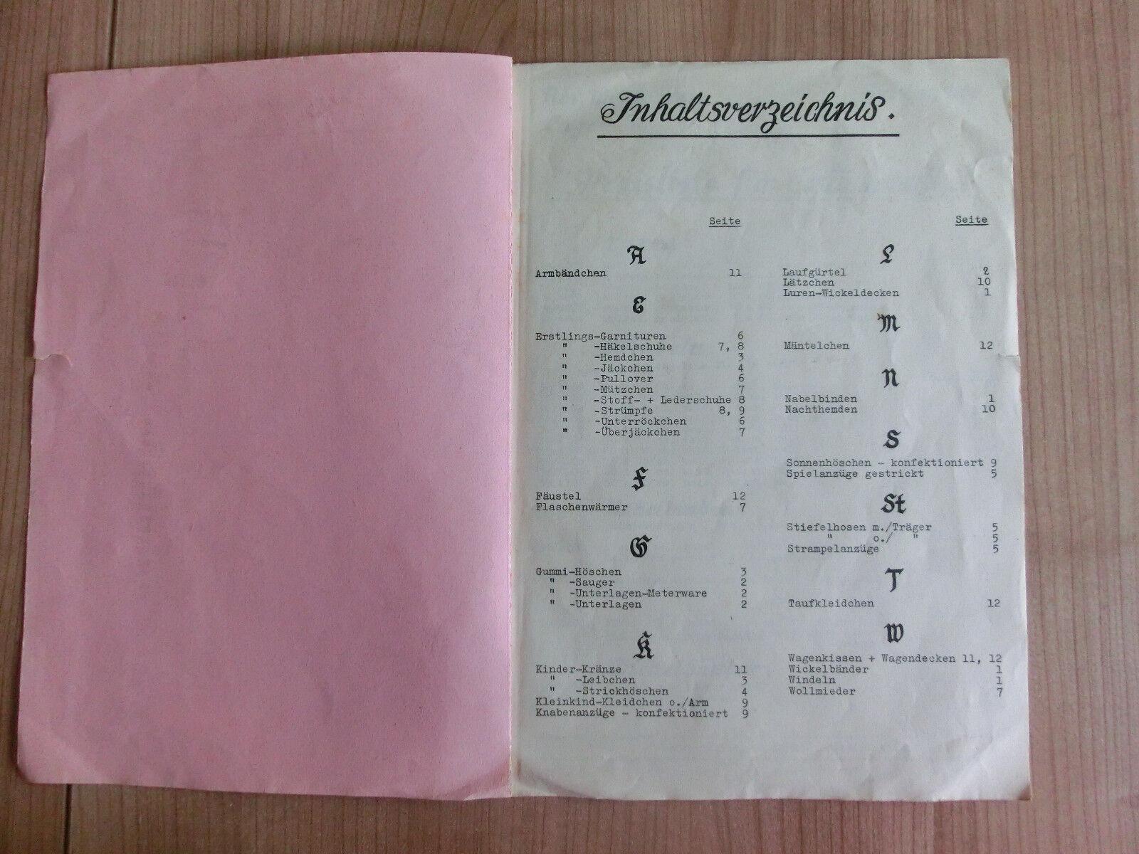 Katalog Erstlingsartikel Hamburg DEV 1939 Baby Ausstattung Gummi Höschen Sauger