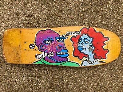 OG Vision Mark Gonzales skateboard - Original 1988 Man & Woman - Gonz M&W - Rare