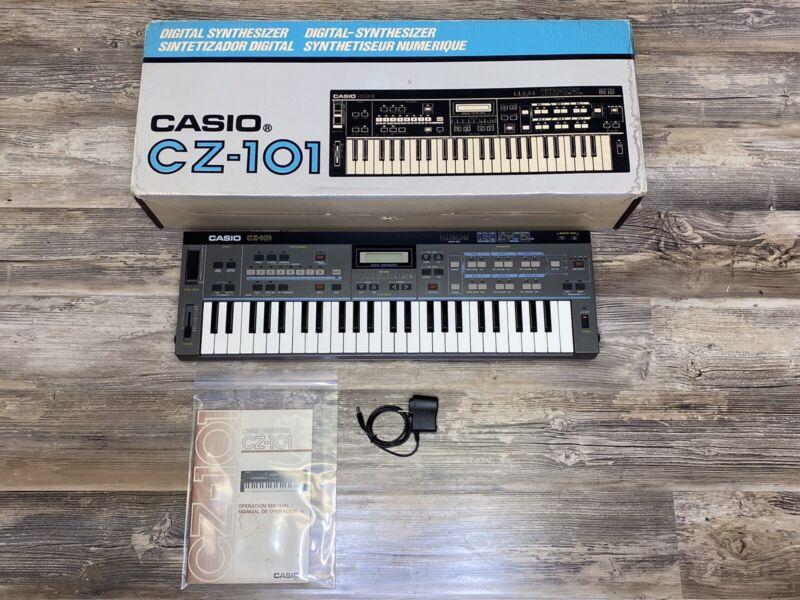 Casio CZ-101 Synthesizer Professional Programmable Iconic Classic W/Box Manual