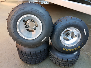 For sale go kart wet weather rims and tyres Kingston Beach Kingborough Area Preview