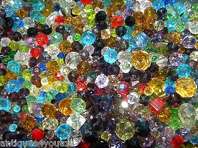 NEW 300/Pcs LOT 6-8mm RONDELLE GLASS Faceted Czech Beads Mixed colors (RG1)