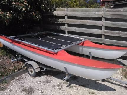 WindRush Surfcat 12 Catamaran on unregistered trailer