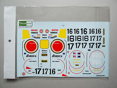 1/12 Yamaha YZR500 Lucky Strike #16/17 WGP 88' Decal for Hasegawa bike, used for sale  Shipping to India